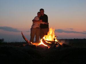 Akagera Rwanda Fire Couple