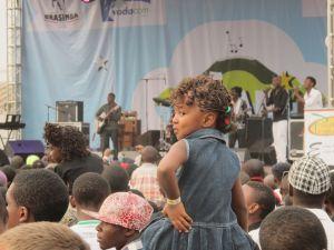 Girl Enjoying Amani Festival Goma Democratic Republic of Congo