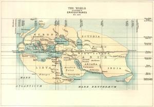 Eratosthenes world view - BC 220 - (173kB)