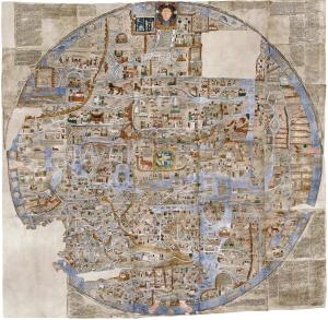 Mappa Mundi example: Ebstorf Map - AD 1235 - (33MB)