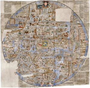 Mappa Mundi example: Ebstorf Map - AD 1235 - (33MB)