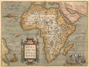 Abraham Ortelius' Africa Map - AD 1584 - (4MB)
