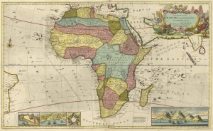 Herman Moll's map of Africa - AD 1710 - (11MB)
