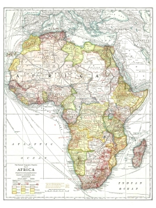 National Geographic's Map of Africa Showing Natural Resources - AD1909 - (10MB)