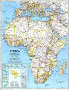 National Geographic's Map of Africa - AD 1990 - (6MB)