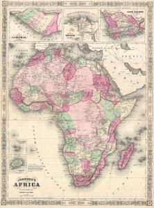 Johnson's map of Africa - AD 1864 - (4MB)