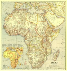 National Geographic's Map of Africa - AD 1935 - (5MB)