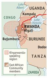 KinyaRwanda Map