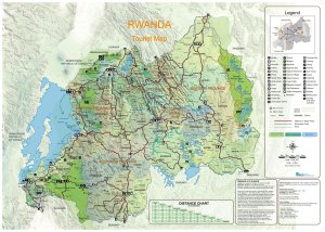 Rwanda Tourist Map (772kB)
