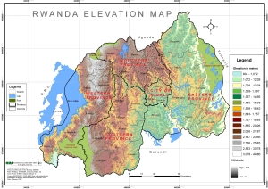 Rwanda Elevation Map (1MB)