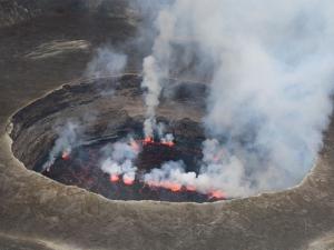 DRC Volcano Nyiragongo Crater